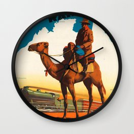 Across Australia Wall Clock
