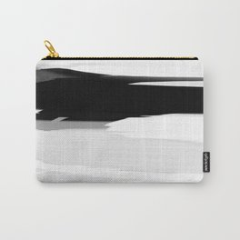 Soft Determination Black & White Carry-All Pouch
