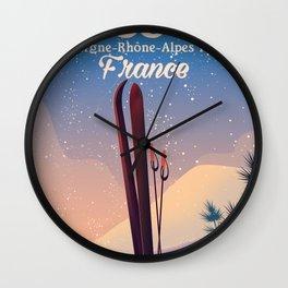 Aussois France Ski poster Wall Clock