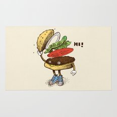 Burger Greeting Rug