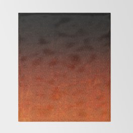Orange & Black Glitter Gradient Throw Blanket