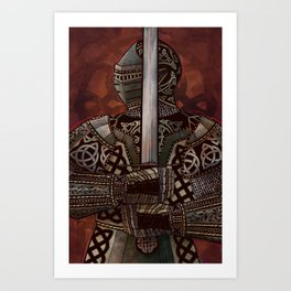 The Knotted Knight Art Print