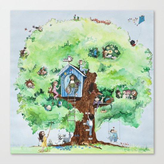 Climbing tree Canvas Print
