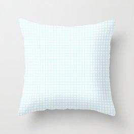 White Cell Checks Throw Pillow