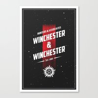 winchester Canvas Prints featuring Winchester & Winchester by clockwork robots