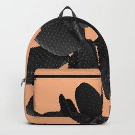 Black Pastel Orange Cacti Vibes #1 #plant #decor #art #society6 Backpack