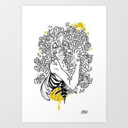 Inktober : Shy Art Print