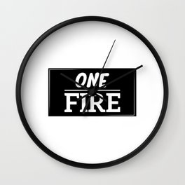 ONE FIRE Wall Clock