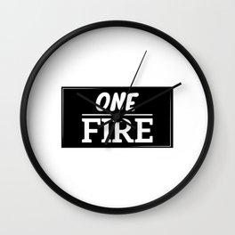 ONE FIRE Wall Clock