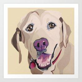 Emma the Yellow Lab- Pet Portrait Art Print
