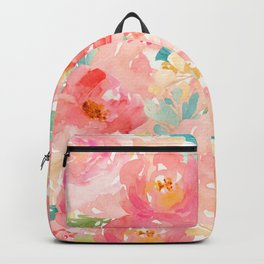 Preppy Pink Peonies Backpack