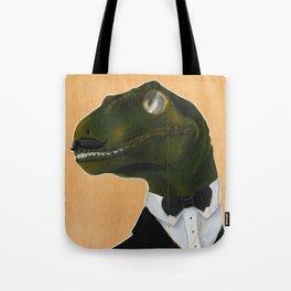 Dapper Velociraptor Tote Bag