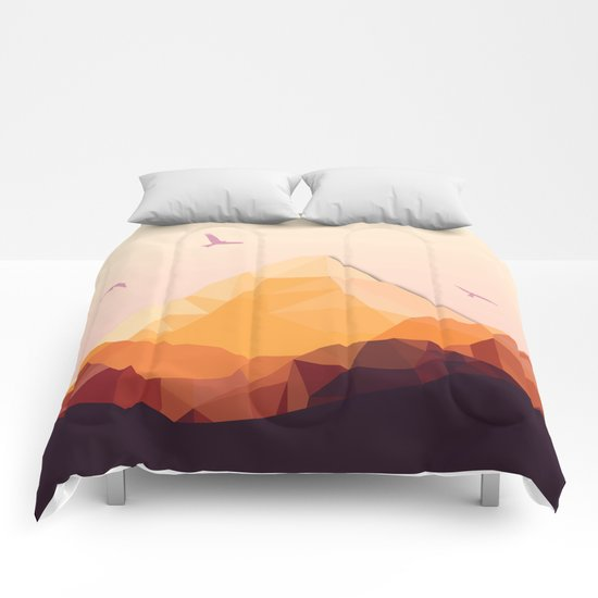 Night Mountains No. 25 Comforters