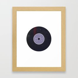 Vinyl Record Star Sign Art | Sagittarius Framed Art Print