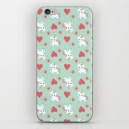 Baby Unicorn with Hearts iPhone Skin