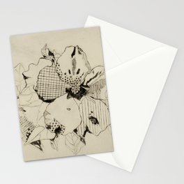 Black Hibiscus Stationery Cards