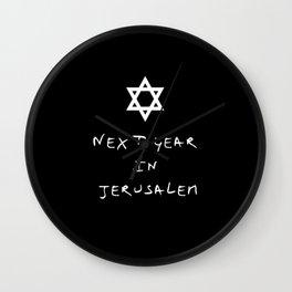 Next year in Jerusalem 5 Wall Clock