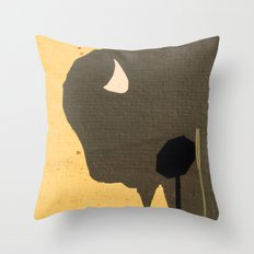 Stop Buffalo Throw Pillow