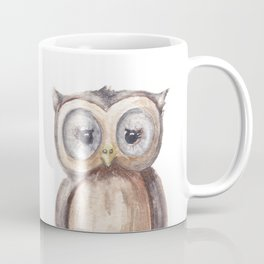 Woodland Animal, Owl, Head, Watercolor, Nursery Coffee Mug