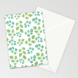 Summer Leaf Watercolor Stationery Cards