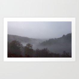 Panoramic photograph of West Devon valley Art Print
