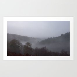 Panoramic photograph of West Devon valley Art Print