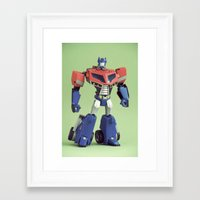 optimus prime Framed Art Prints featuring Optimus Prime (Animated) by Fanboy30