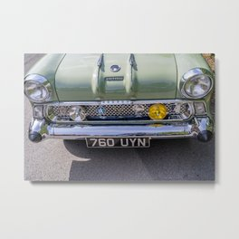 Front end of vintage car Metal Print