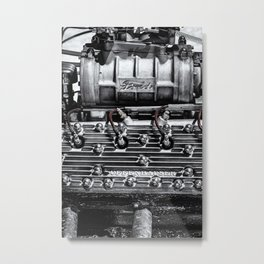 Blown Flathead Engine Metal Print
