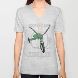 Green Tricycle Unisex V-Neck