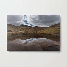 Llyn y Fan Fach Reflection Metal Print