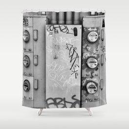 Electrified Graffiti Shower Curtain