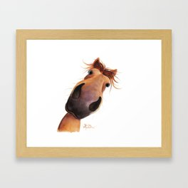 Happy Horse ' MAD MAX ' by Shirley MacArthur Framed Art Print