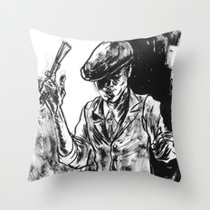 One Armed Gangster Throw Pillow