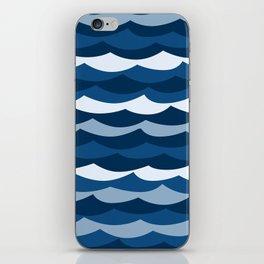 Classic Blue Wave Pattern iPhone Skin