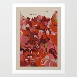 Organic Infographics - Lava Art Print