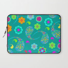 Green Paisley № 5 Laptop Sleeve