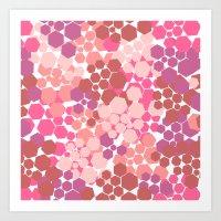 blush Art Prints featuring Blush by nandita singh