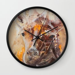 "Giraffe - Animal - ""Presence"" by LiliFlore Wall Clock"