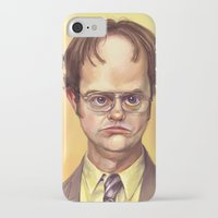 dwight iPhone & iPod Cases featuring Mr. Dwight K Schrute by Ben Anderson