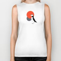 puffin Biker Tanks featuring Puffin by Rebekhaart