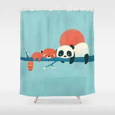 Pandas Shower Curtain
