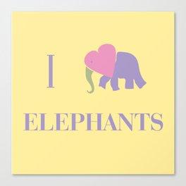 I Heart Elephants Canvas Print