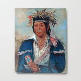 Kee-mo-rá-nia, No English, a Dandy by George Catlin Metal Print