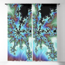 Blue Crab Fractal Blackout Curtain