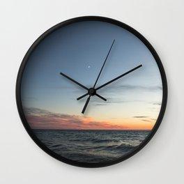 Lake Michigan Sunset Wall Clock