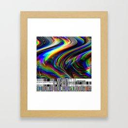 Rainbow modern glitch effect Framed Art Print