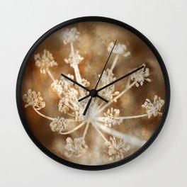Summertime Hogweed Wall Clock