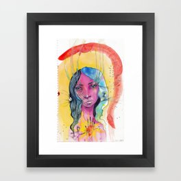 I Was Awake Framed Art Print