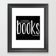 Late Night Reading - V3 Framed Art Print